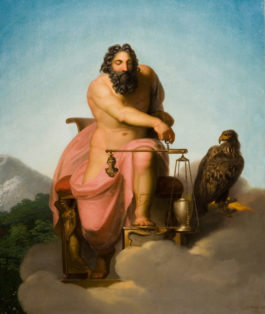 Jupiter weighing the fate of mankind
